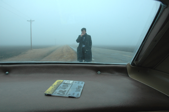 Slavko in the fog for Buick Riviera - Production design by Tommaso Ortino
