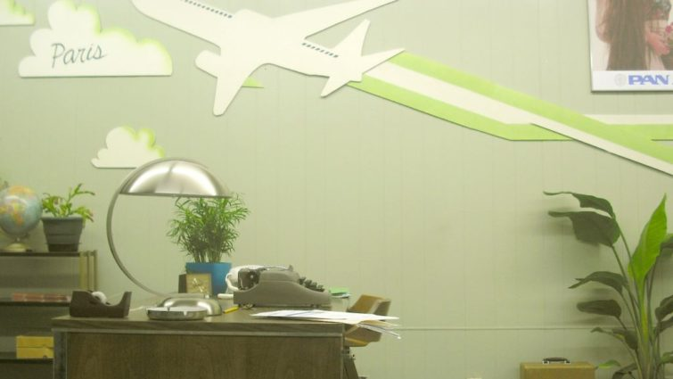 Travel office from White Irish Drinkers - Production design by Tommaso Ortino