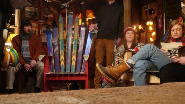 Ski Lodge scene from Deep Powder- Productino design by Tommaso Ortino