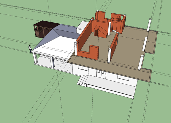 SketchUp Model of Mark's House from The Forgiveness of Blood by Joshua Marston - Production design by Tommaso Ortino